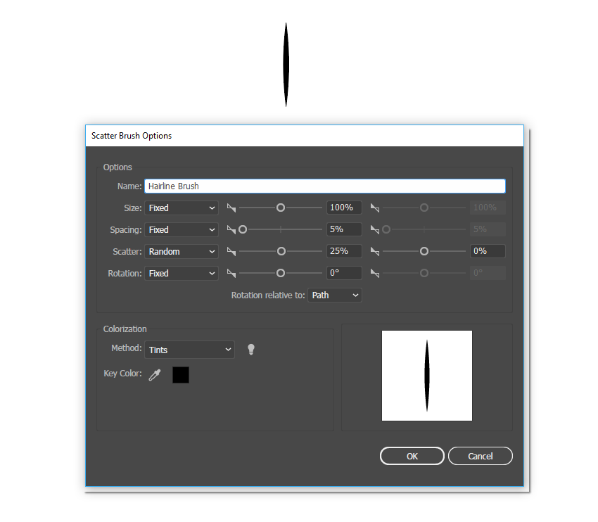 Create a Scatter Brush