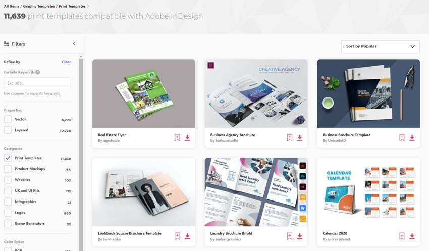 Find InDesign Templates available on Envato Elements