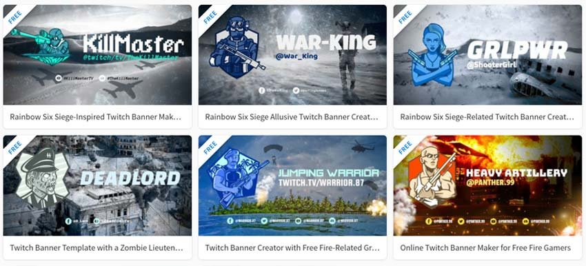 Free Twitch Banners on Placeit