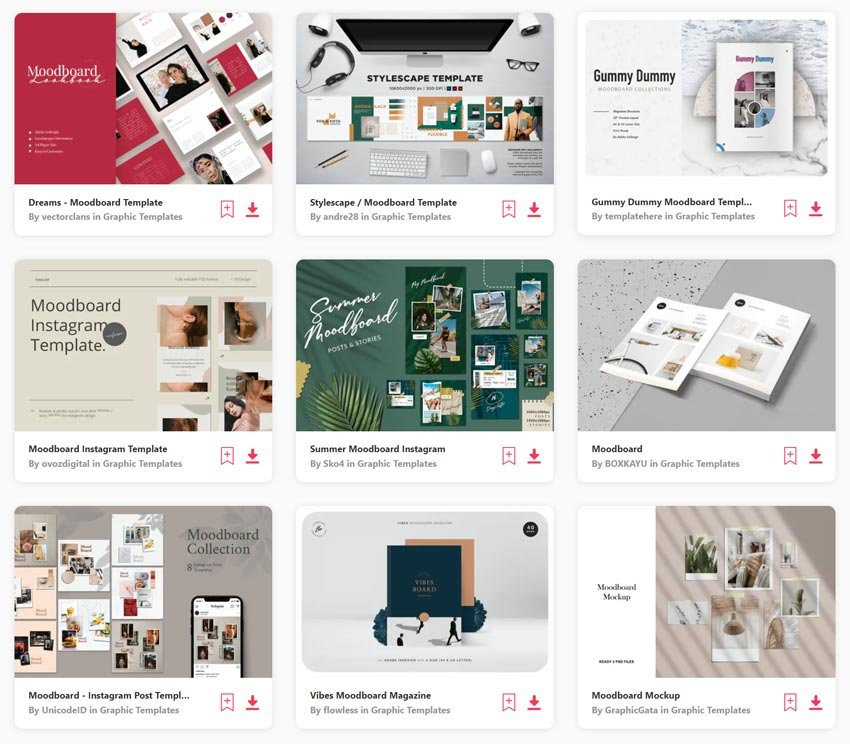 Moodboard Templates on Envato Elements