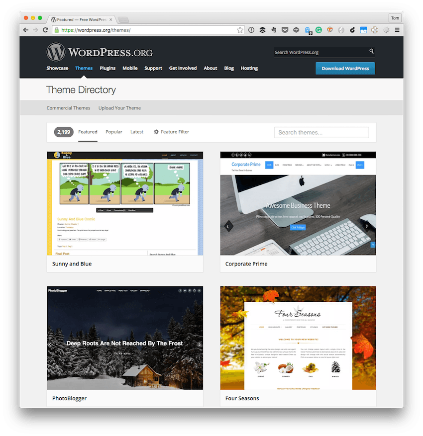 The WordPress Theme Directory
