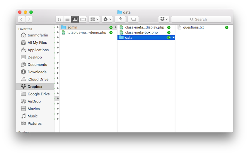The questionstxt file in the data subdirectory