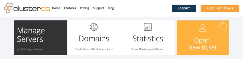 Select Manage Servers