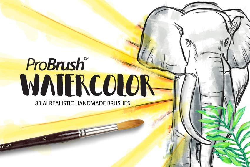 Watercolor ProBrush for Illustrator