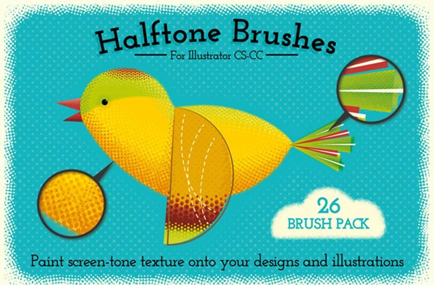 Illustrator Halftone Brushes