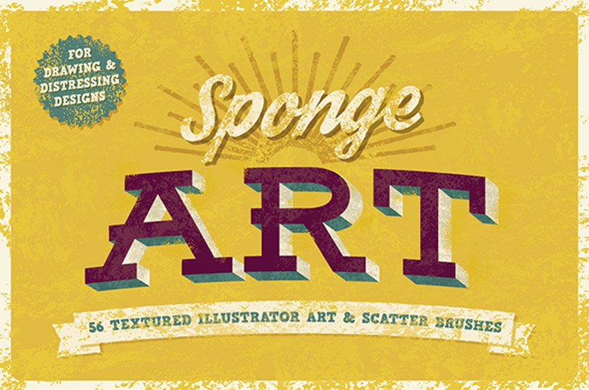 Sponge Illustrator Brushes