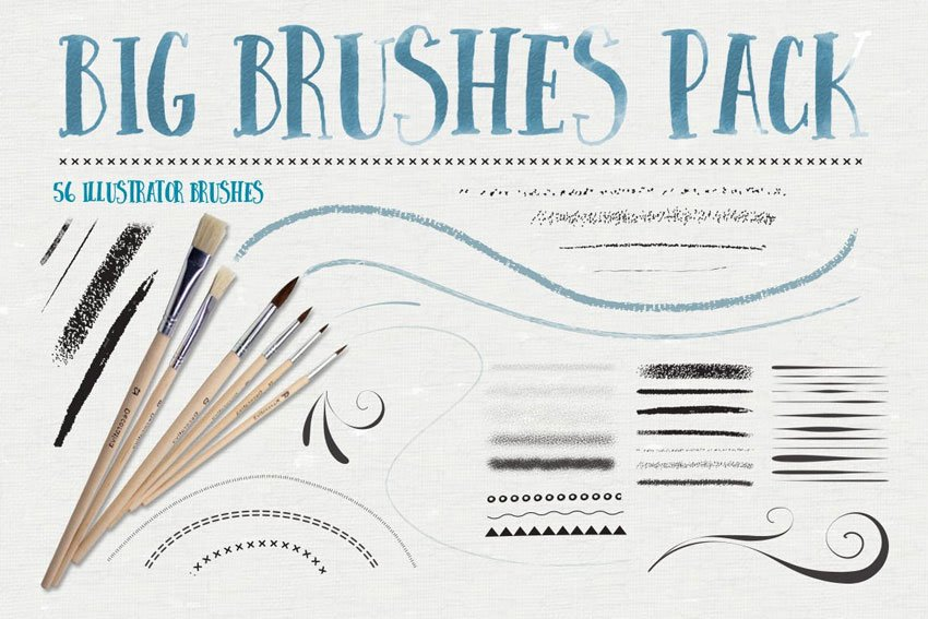 Big Illustrator Brushes Pack
