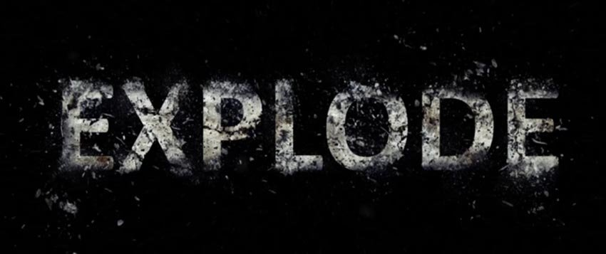 Photoshop Tutorial Exploding Text Effect