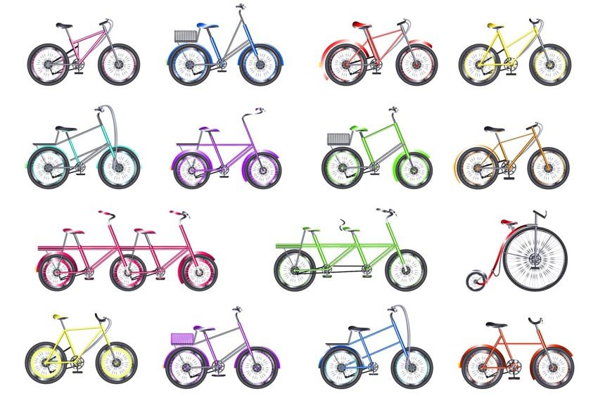 Bicycle Flat Design Vector Isolated