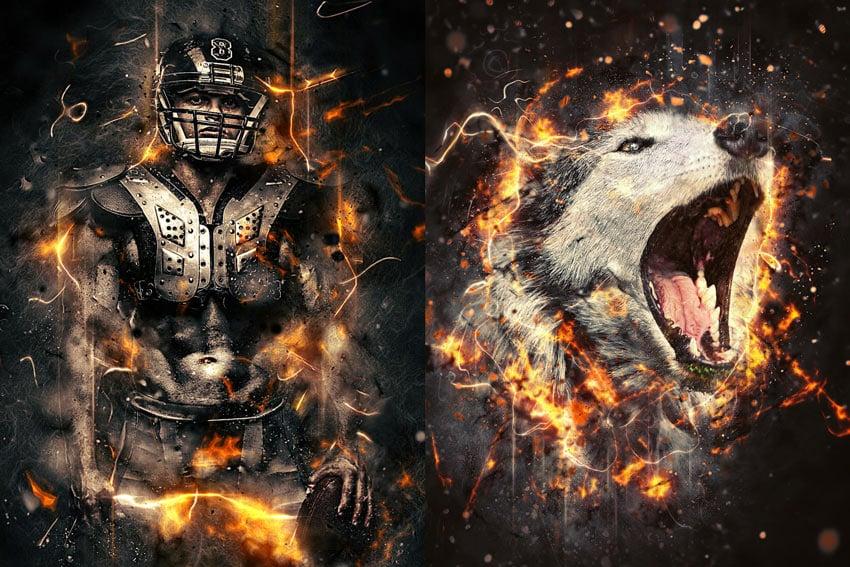 Fury Photoshop Action