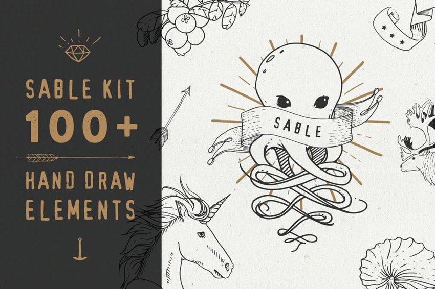Sable Kit - Hand Drawn Collection