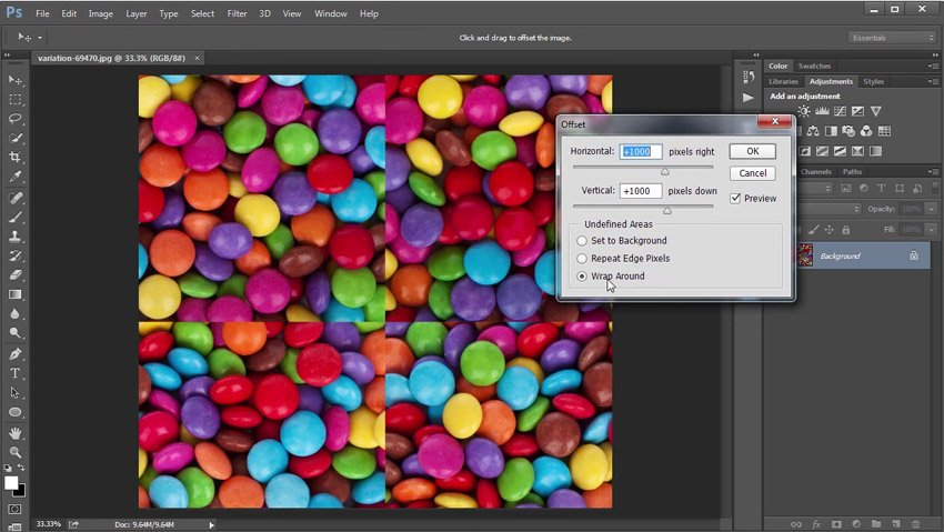 Use the Wrap Around Option for Offset Filter