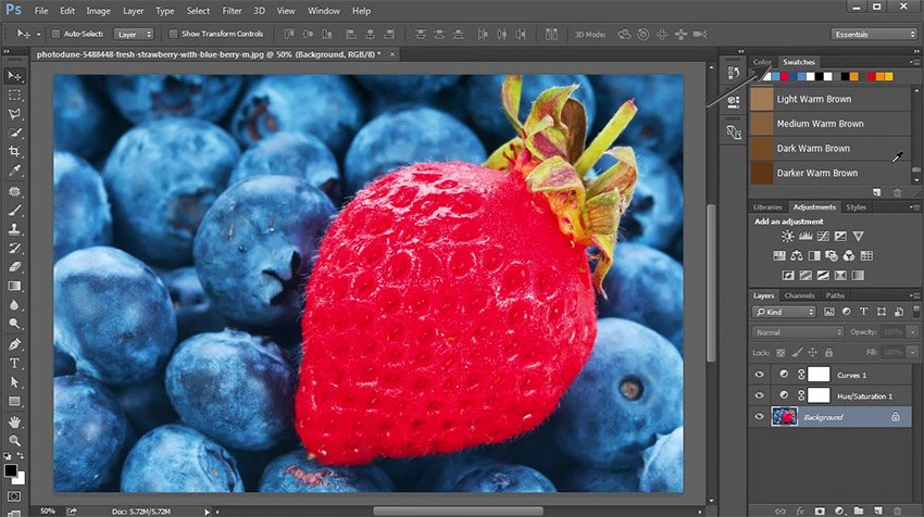 The Swatches Panel in Adobe Photoshop