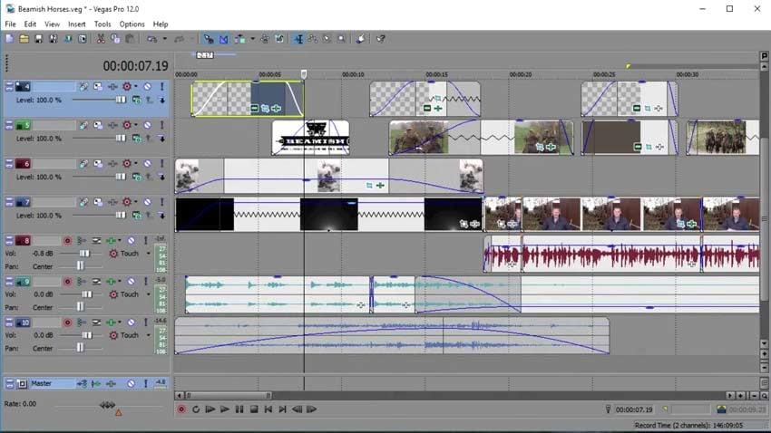 Sony Vegas Pro Audio Tools