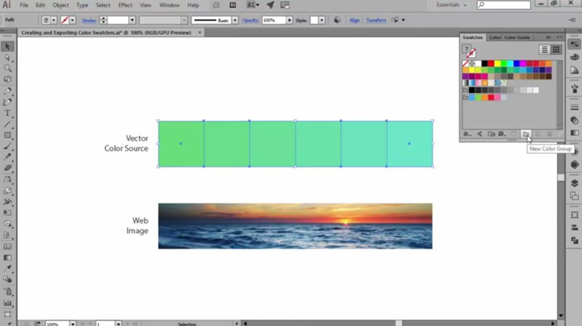 Creating a New Color Group in Adobe Illustrator