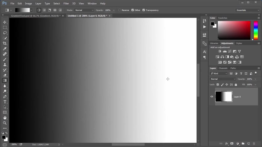 Using the Gradient Tool in Adobe Photoshop