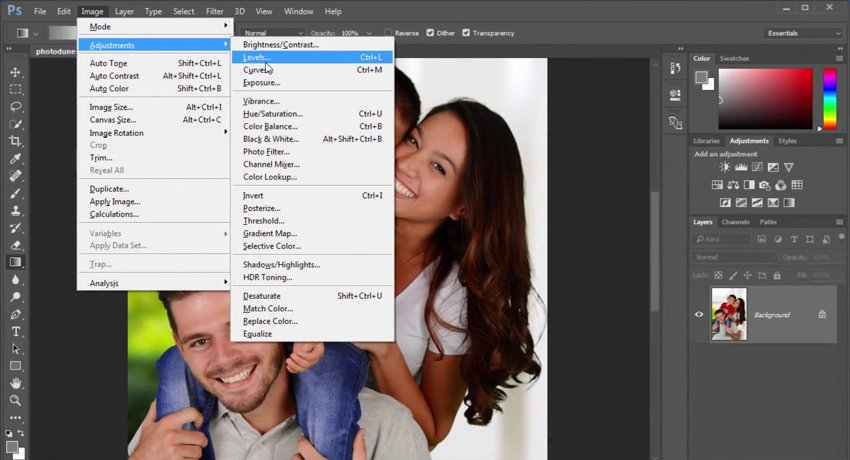 Adjustment Layers in Adobe Photoshop