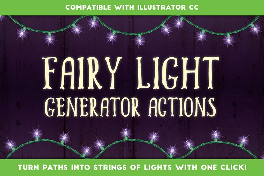 Fairy Light Generator - Illustrator Actions