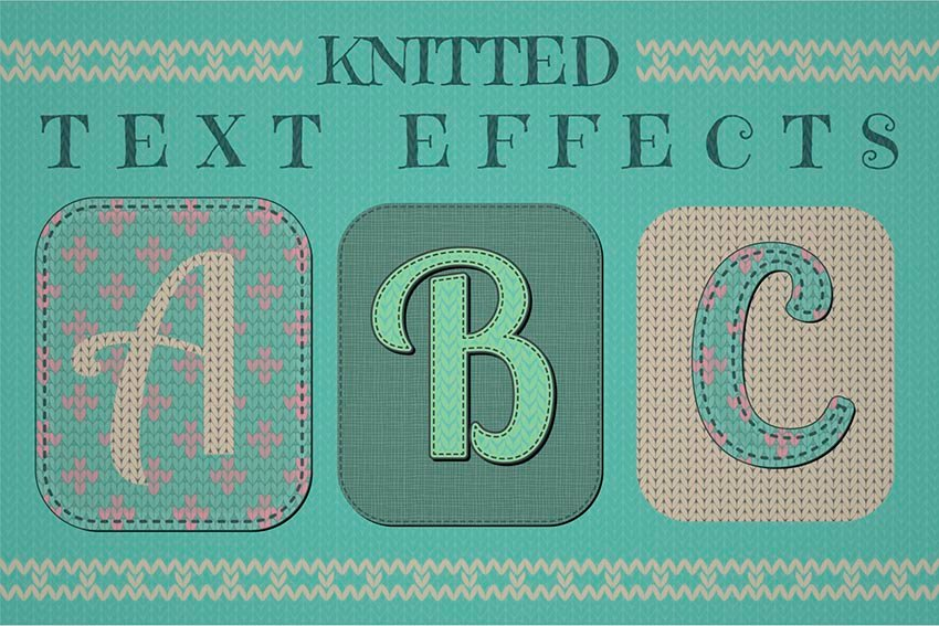 Knitted Text Effect Graphic Styles