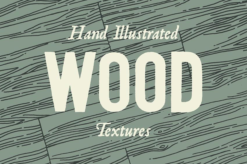 Hand Illustrated Wood Texture Patterns