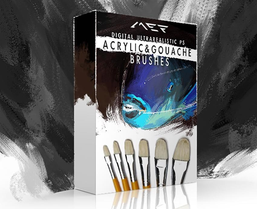 Gouache  Acrylic Photoshop Brushes