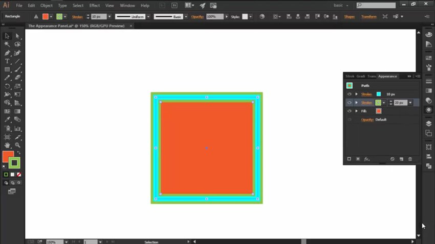 Add Multiple Strokes in the Appearance Panel