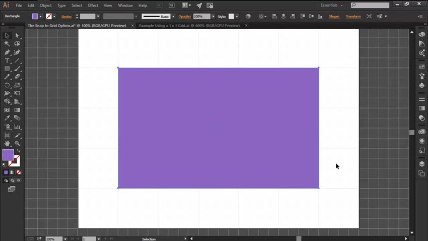 Snap to Grid in Adobe Illustrator with New Shapes