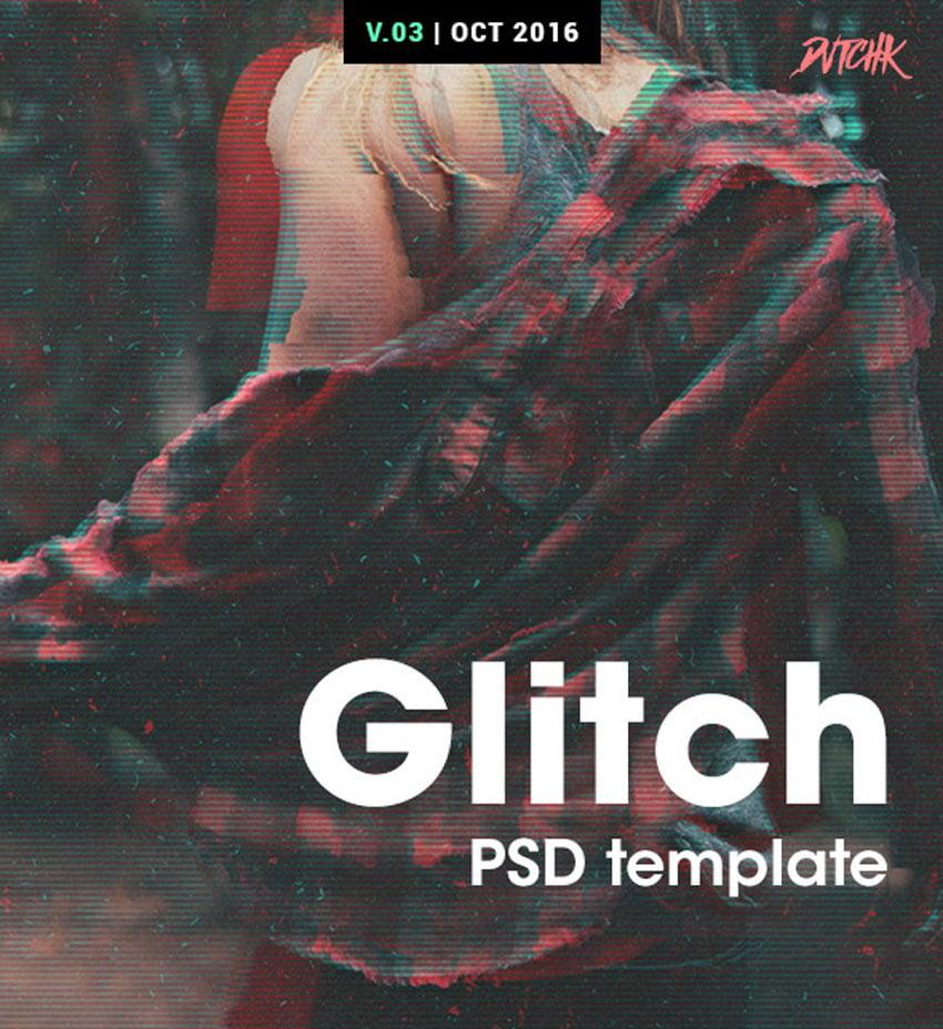 glitch photo template