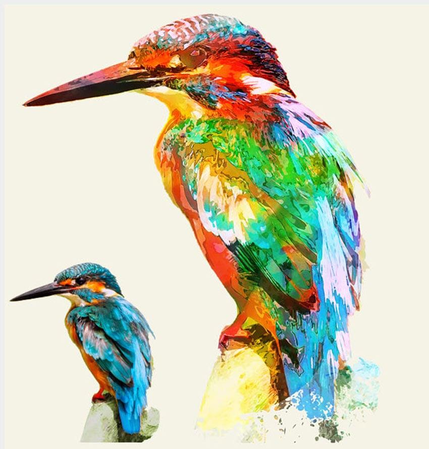 Watercolor Photo Templates