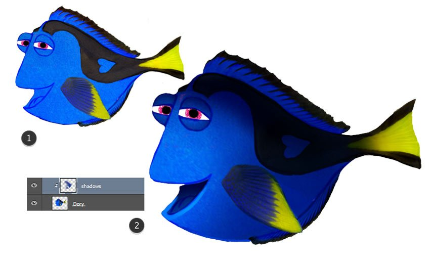 Painting Shadow on Dory