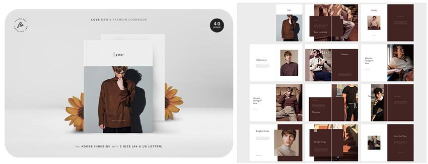 Mens Fashion Lookbook Mens Fashion Lookbook Magazine Template