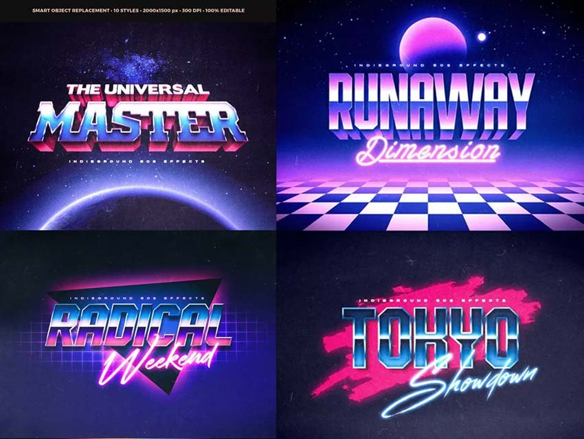 Great 80s Text Effects Photoshop Vol2