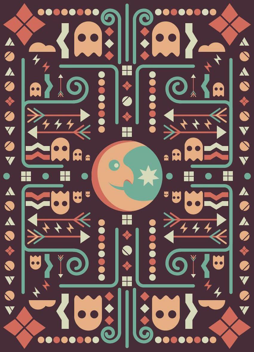Geometric PacMan Design Adobe Illustrator Tutorial