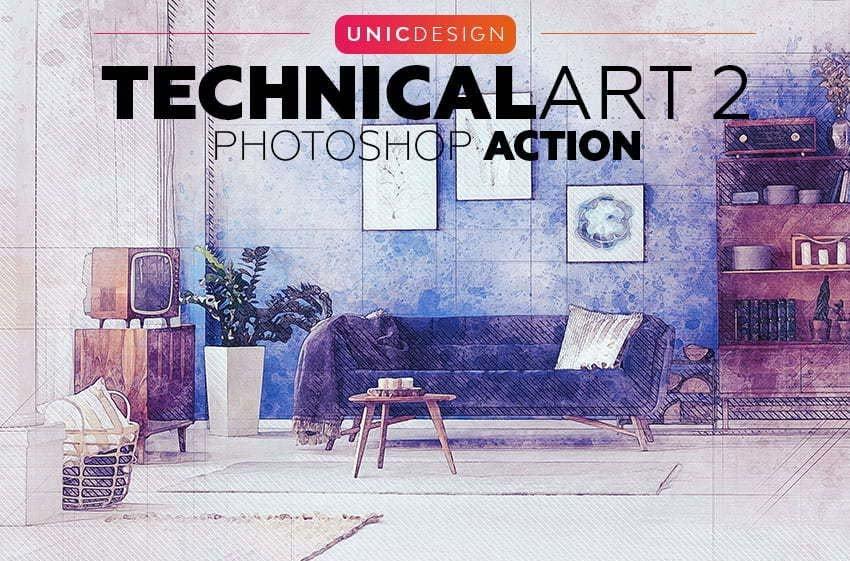TechnicalArt 2 Photoshop Action