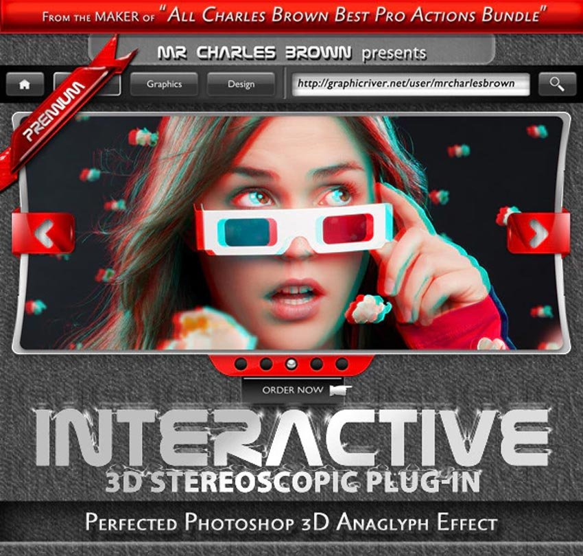 Interactive 3D Stereoscopic Effect