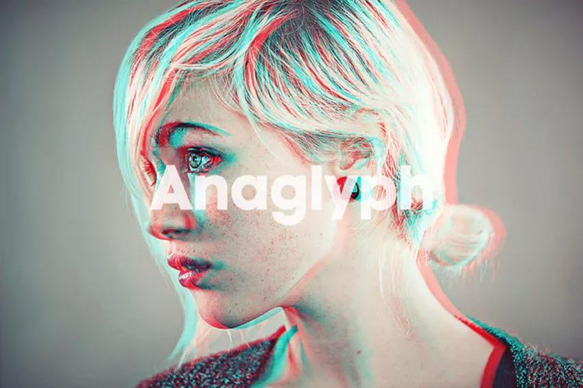 Anaglyph 3D Photoshop Action