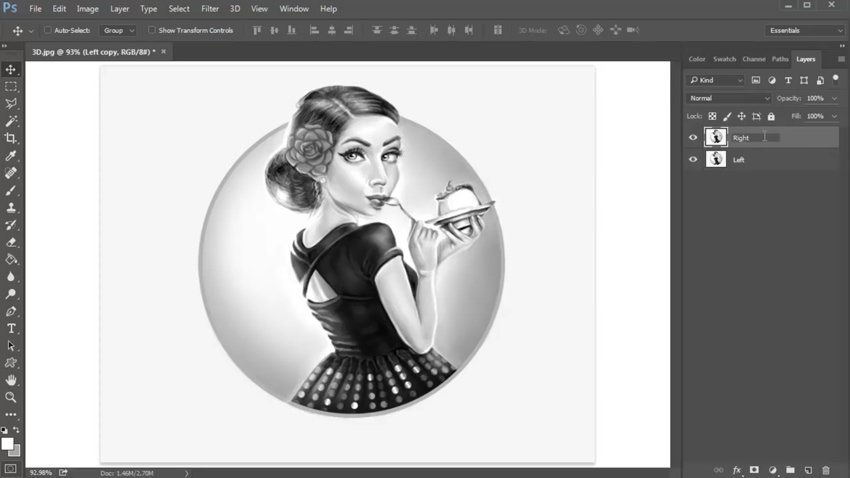 Setting Up Your Art for a 3D Effect
