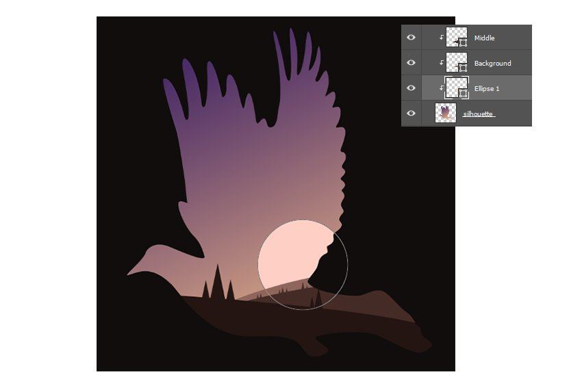 Add the Sun with the Ellipse Tool