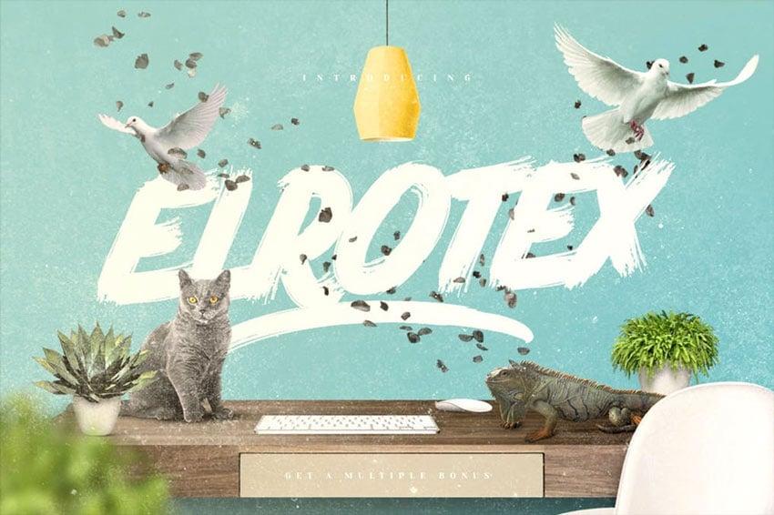 Elrotex Decorative Brush Font