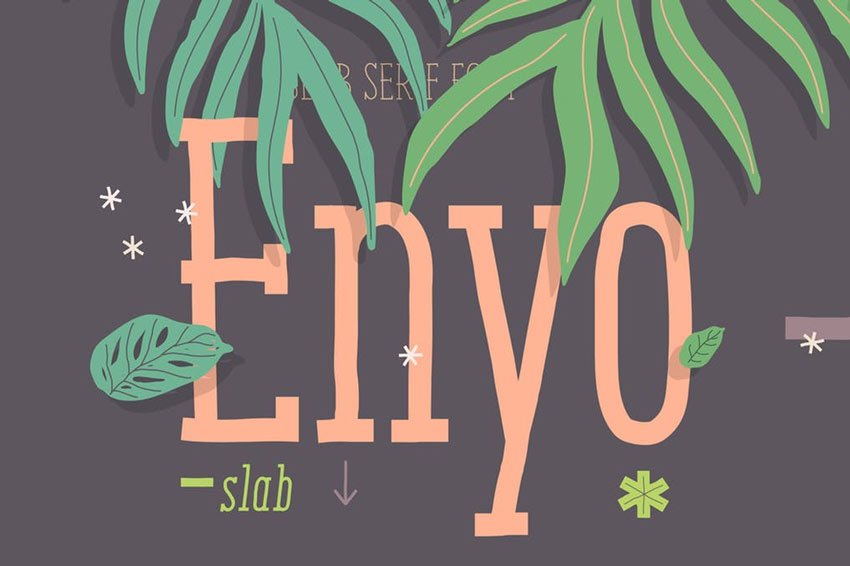 Enyo Slab Best Decorative Fonts