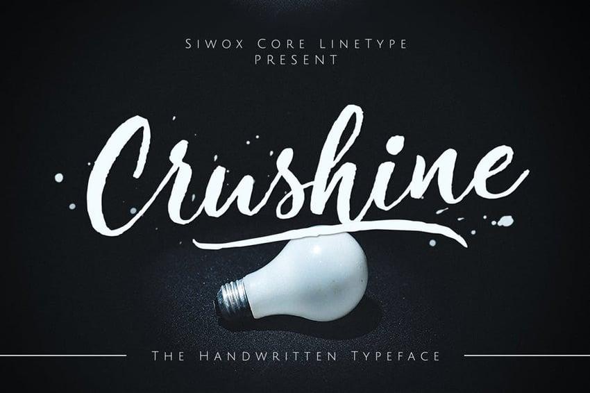 Crushine Wet Brush Script Font