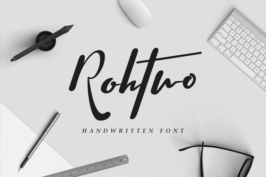 Rohtwo Bold Signature Script Font
