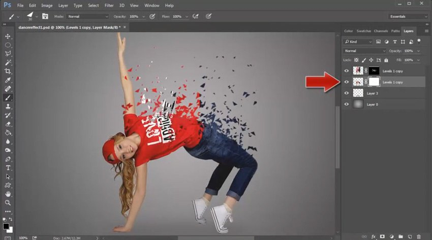Paint Scattered Triangles onto Layer Masks