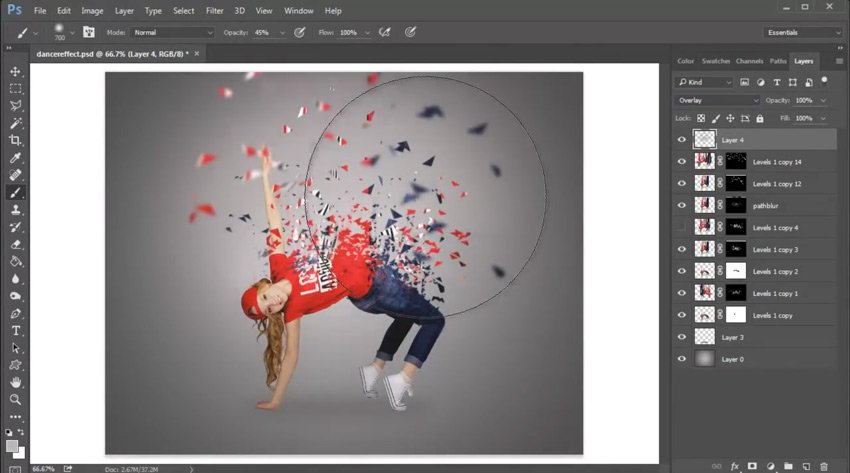 Create Light with Layer Blend Modes