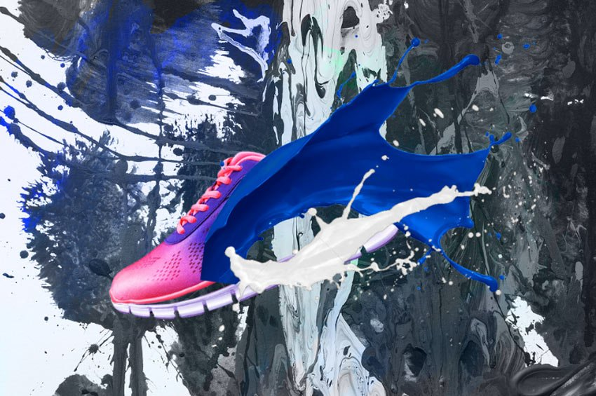 Add the Paint Splashes Onto the Shoe