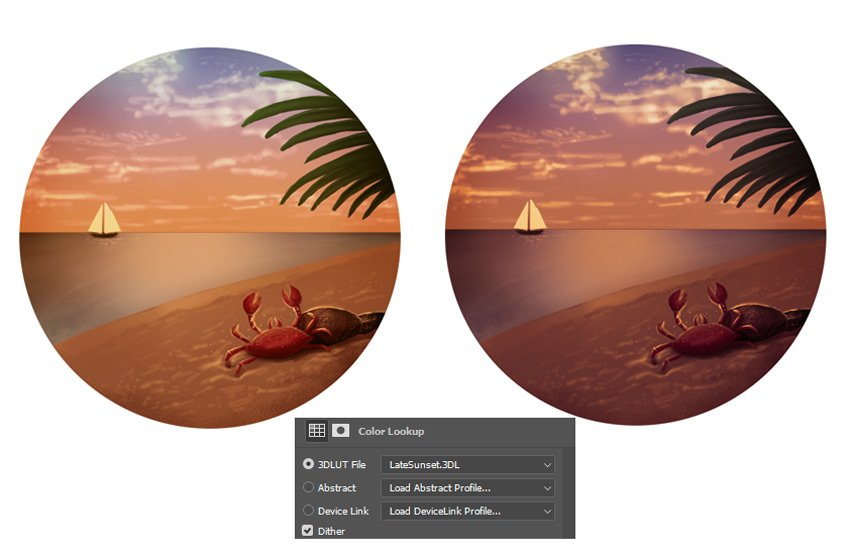 Add an additional Color Lookup to the Sunset