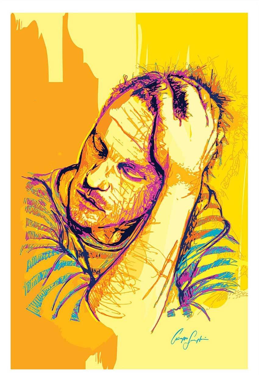 Heath Ledger Art by Giuseppe Simpatico
