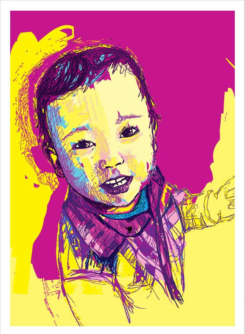 Child Portrait by Giuseppe Simpatico