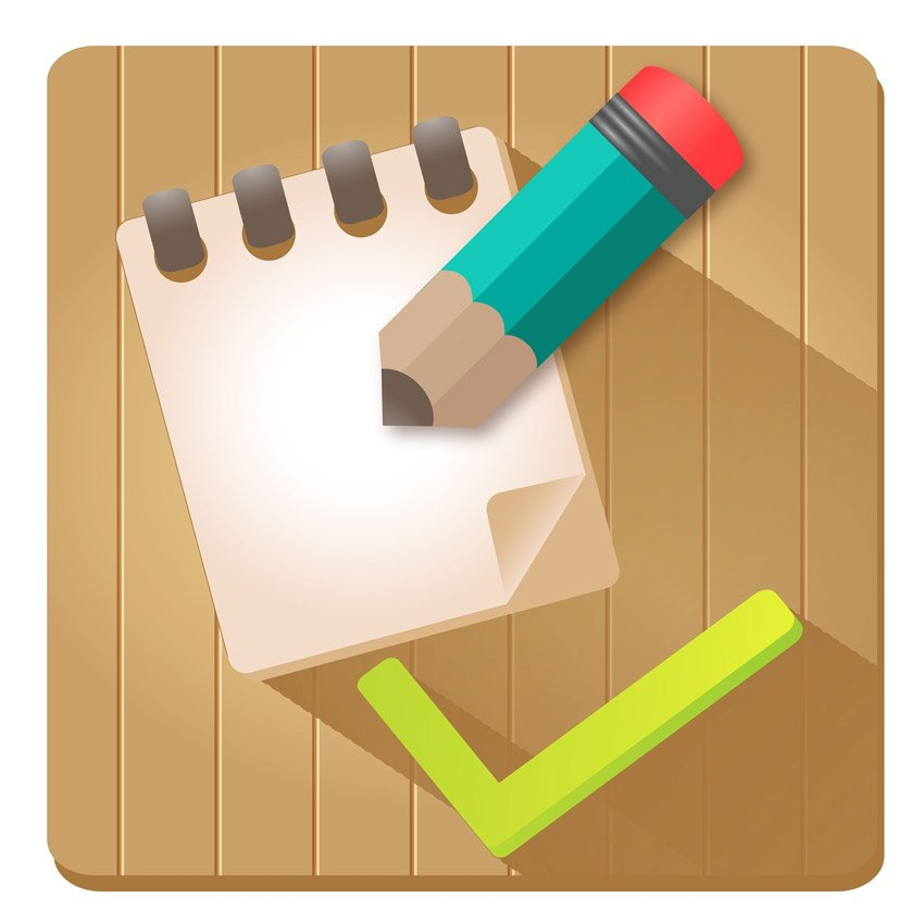 Pencil and List Vector Icon by Illenia