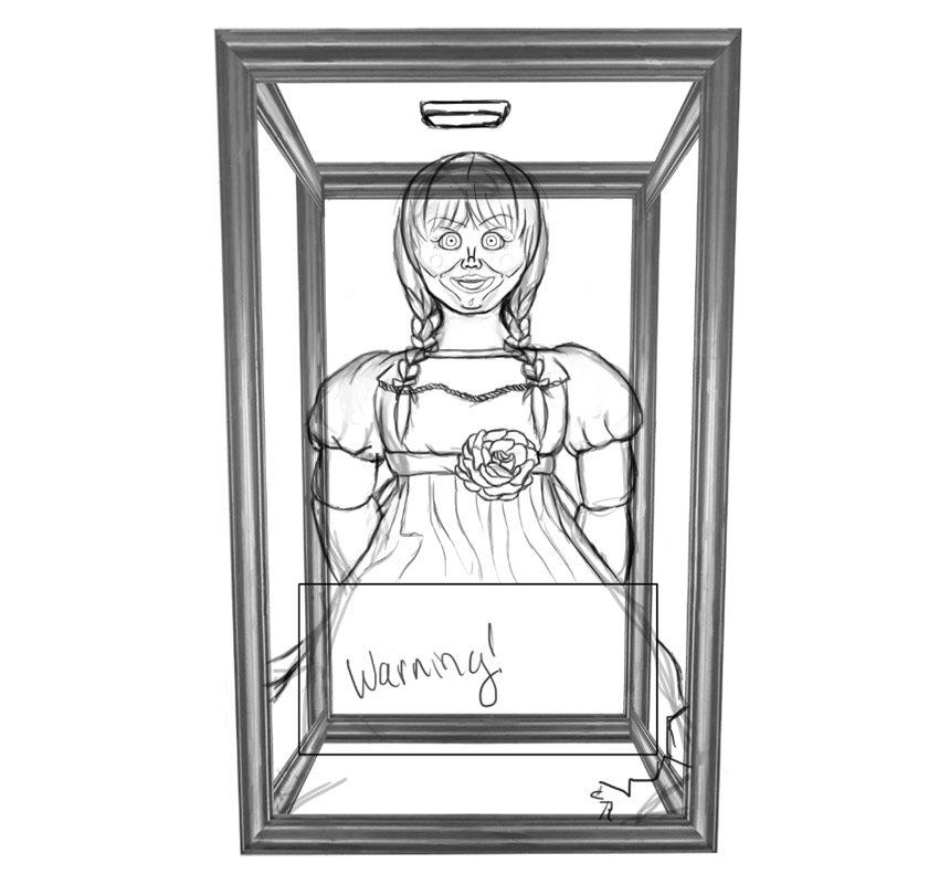 Drawing Of Annabelle the Doll